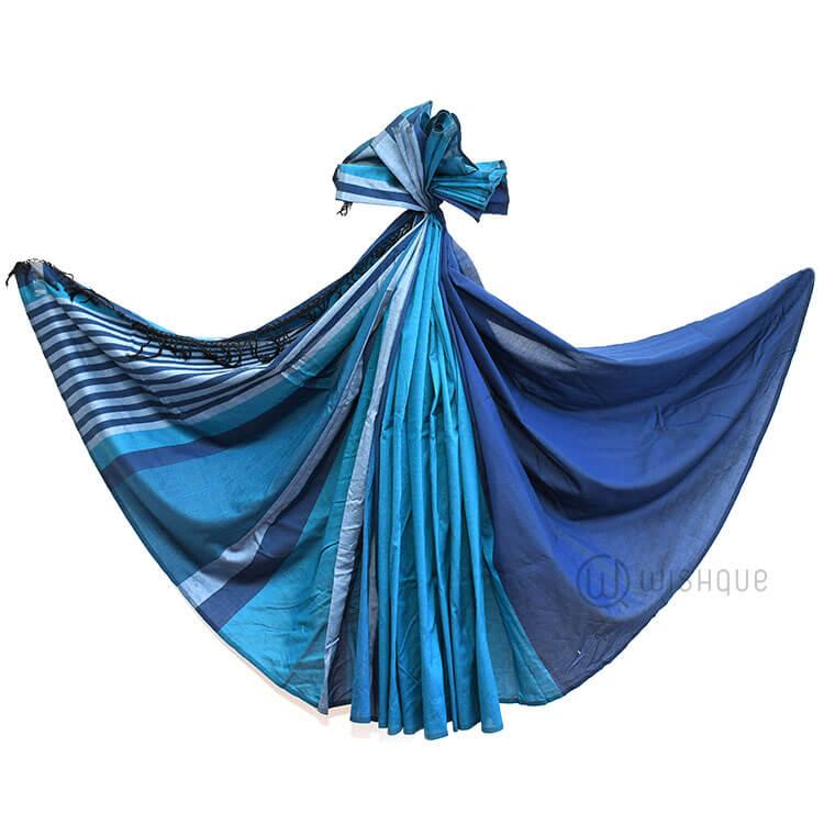 Handloom Saree - Blue Shades