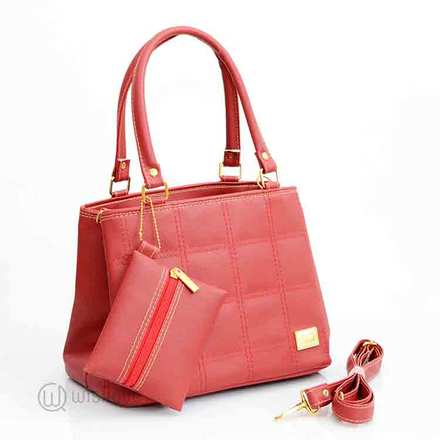 Quilted Style Red Tote