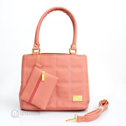 Quilted Style Pink Tote