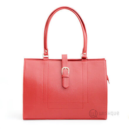 Buckle Front Rose Red Bag