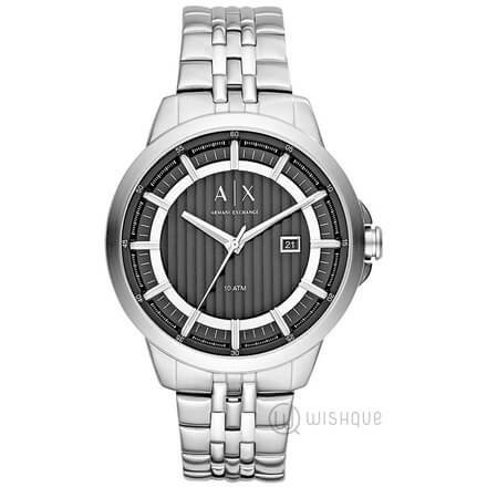 Armani Exchange Stainless-steel Black and Silver Men's Watch AX2260