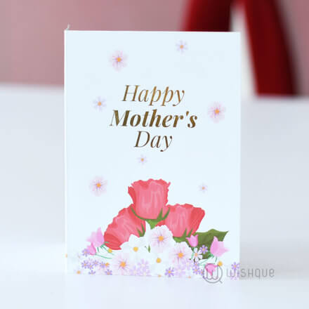Happy Mother's Day Floral Greeting Card