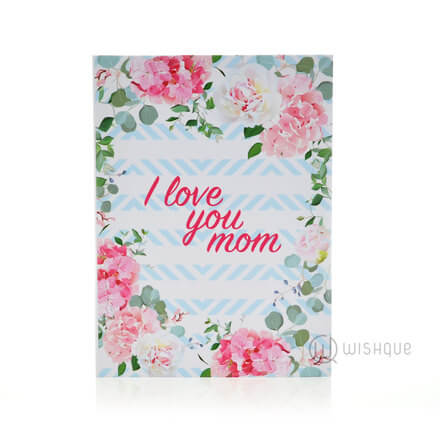 I love You Mom Floral Greeting Card