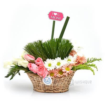 Spring Flower Bucket for Mom