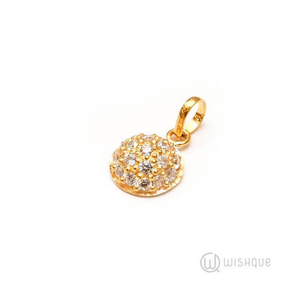 22kt Gold Pendant with Stones ARJP02