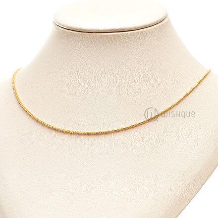 22kt Gold Chain Two Tone 4g ARJC03
