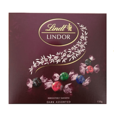 Lindt dark irresistibly smooth dark assorted chocolate 150g