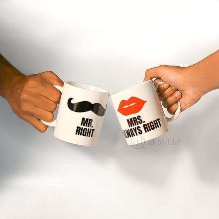 Mr & Mrs Right Couple Mug