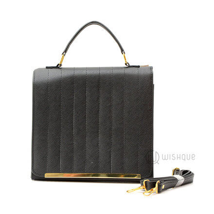 Black Dome Tote Handbag