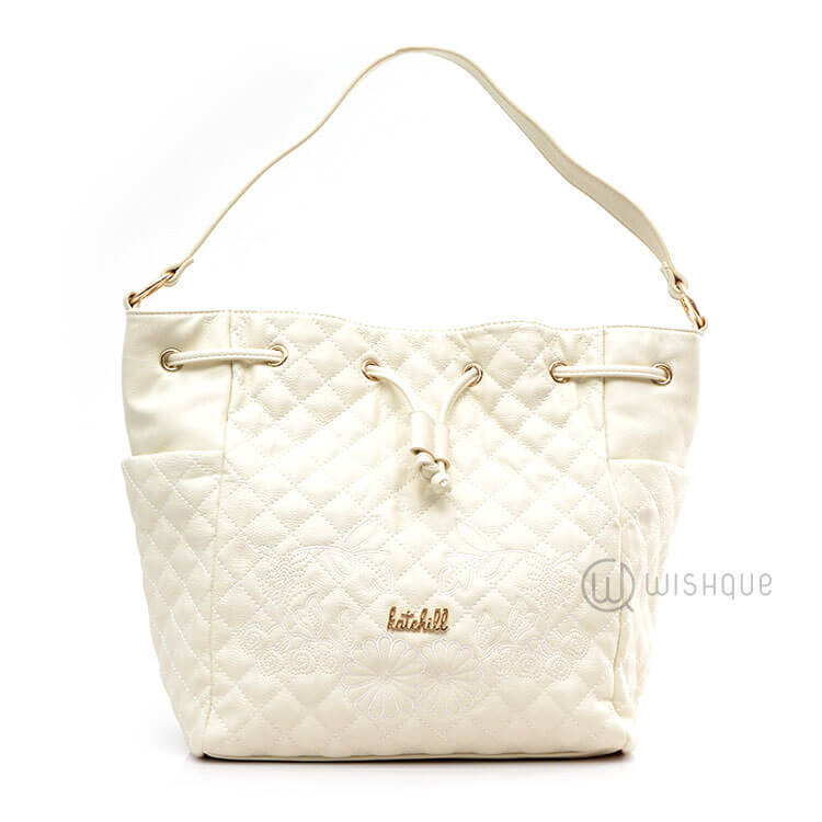 Kate Hill White Fl Handbag Wishque Sri Lanka S Premium