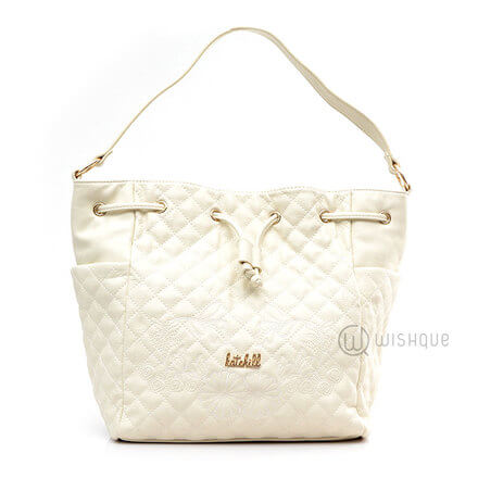 Kate Hill White Floral Handbag
