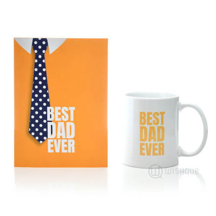 Best Dad Ever Card & Printed Mug