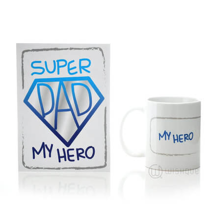 Super Hero Dad Card & Printed Mug