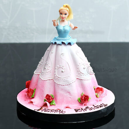 Barbie Doll 3D Cake