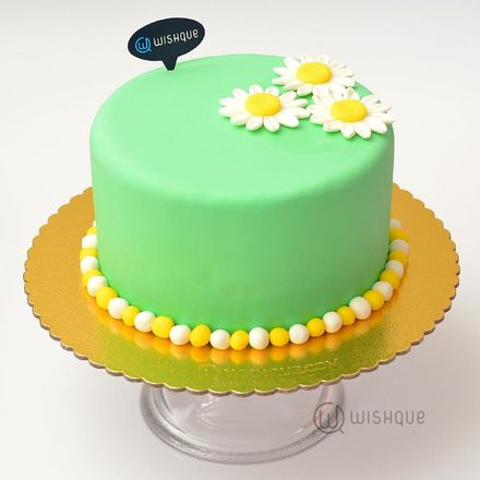 Happy Daisy Ribbon Cake