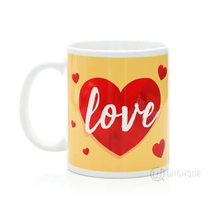 Love Heart Printed Mug