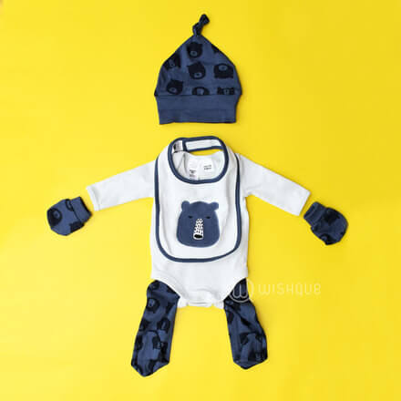 Baby Boy 5 Piece Set- Bear Design