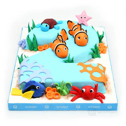 Finding Nemo Customise Number Cake