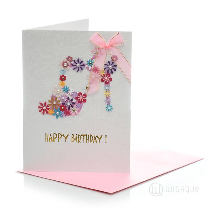 Cinderella Shoe Birthday Card Wishque Sri Lankas Premium Online