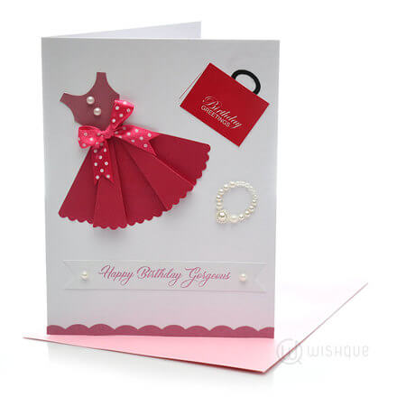 Fashion Girl Birthday Card