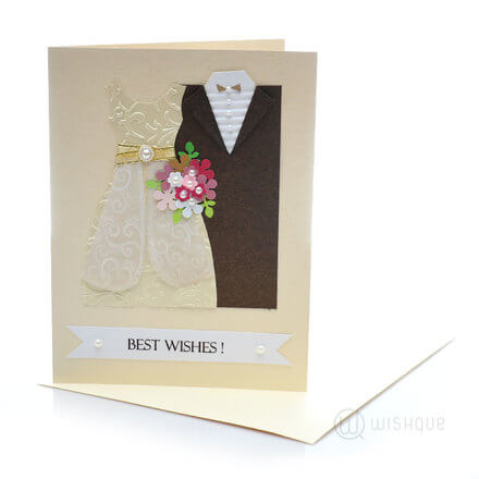 Best Wishes Wedding Couple Card