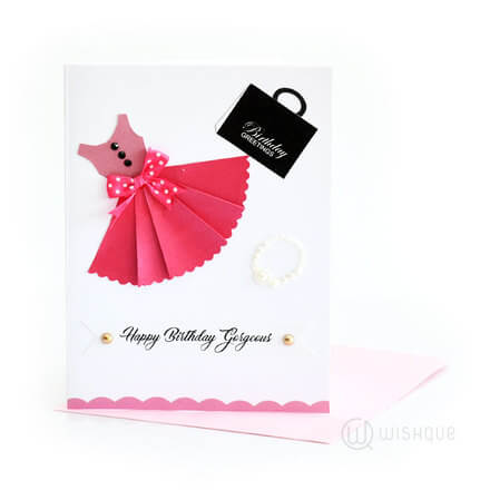 Pinkie Pie Dress Birthday Card