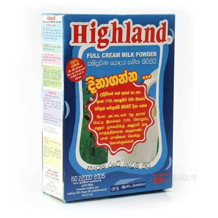 Highland Full Cream Milk Powder 400g