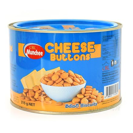 Munchee Cheese Buttons Biscuits 215g