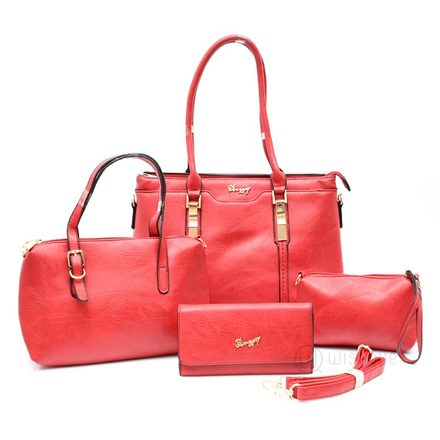 Classy Red Leather Handbag Collection