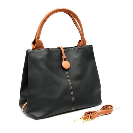 Button up Imported Handbag - Black