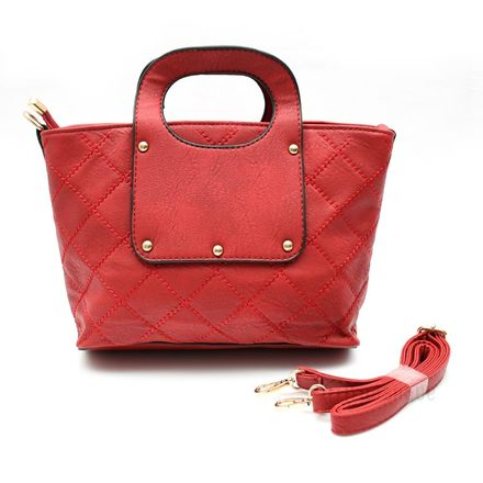 Red Leather Queen Handbag