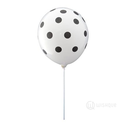 Black Polka Dots LED Balloon