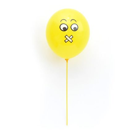 Sealed Lips Emoji Balloon