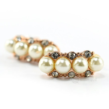 Pearl Line Earrings