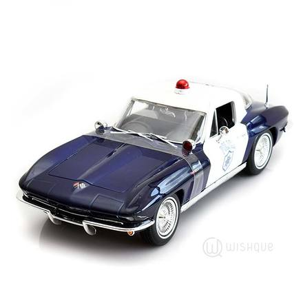 1957 Chevrolet Corvette Blue & White Police