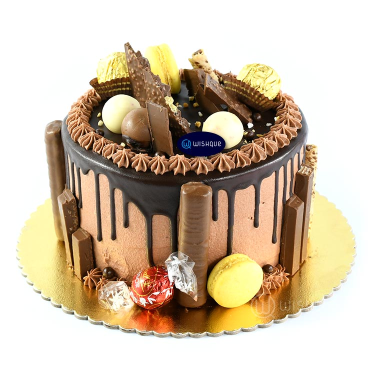 Lindt Celebration Chocolate Drip Messy Cake - Wishque