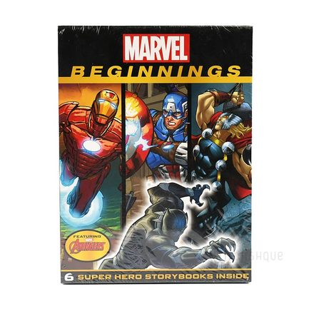 Marvel Super Hero Beginnings 6 Books Collection