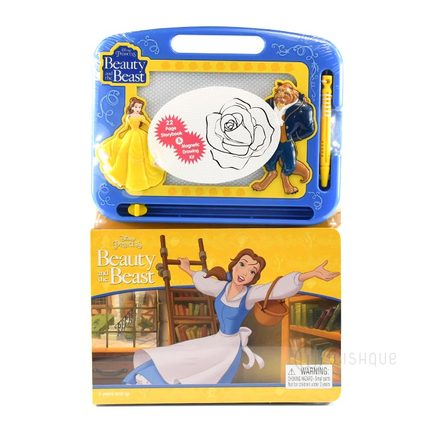 Beauty & The Beast Learn To Write- Learning Book with Magnetic Drawing Pad