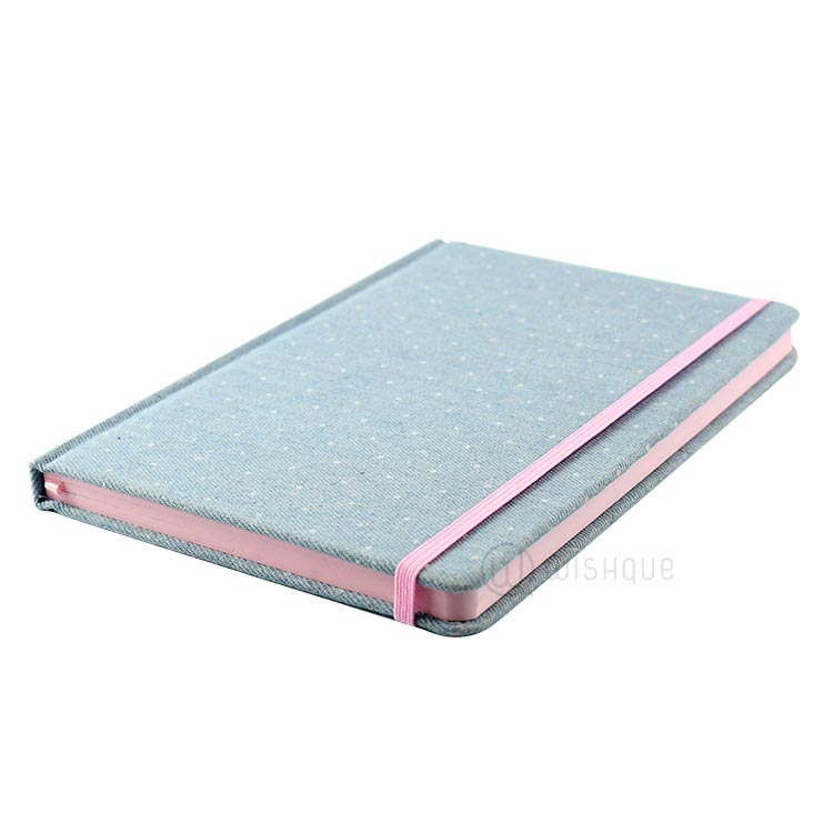 Blue & Pink Notes Journal With Elastic Band Closure