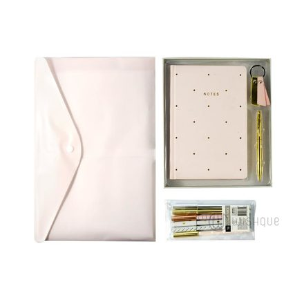 Stylish All Pink Stationery Pack