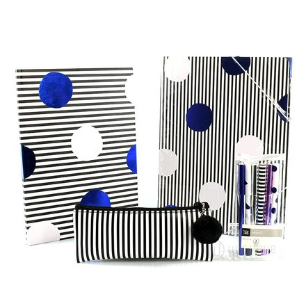 Stylish Polka Dots Monochrome Stationery Pack