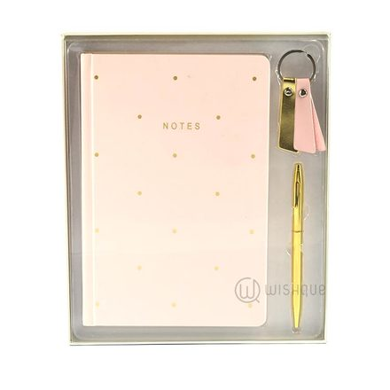 Stylish Gold and Pink Notebook Set
