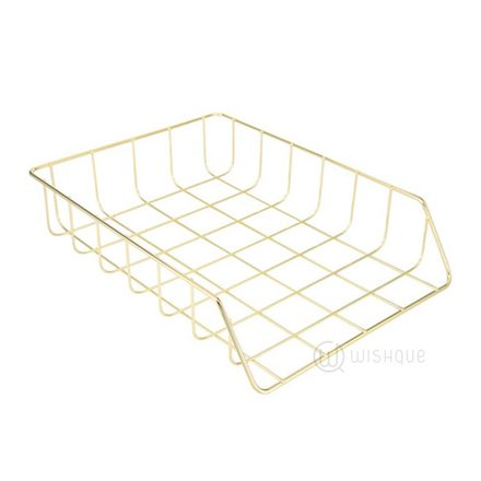 Gold Wire Desk Tray