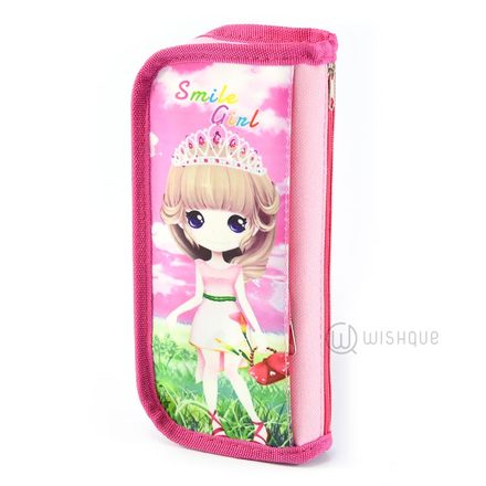 Smile Girl Pink Pencil Case