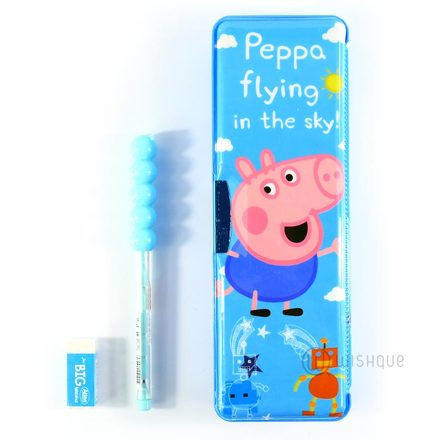 Peppa The Pig Pencil Box Set In Blue