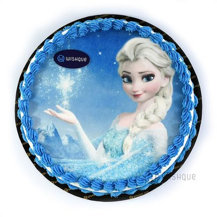 Custom Edible Print Cake - Elsa