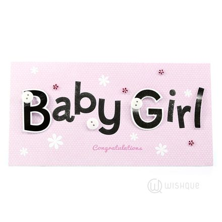 Baby Girl - New Baby Greeting Card