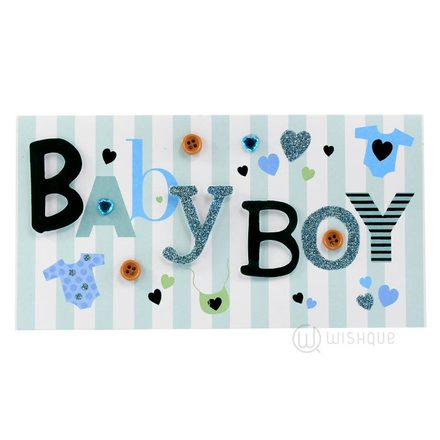 Baby Boy - New Baby Greeting Card