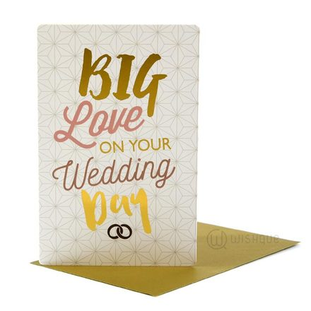 Big Love On Your Wedding Day Greeting Card