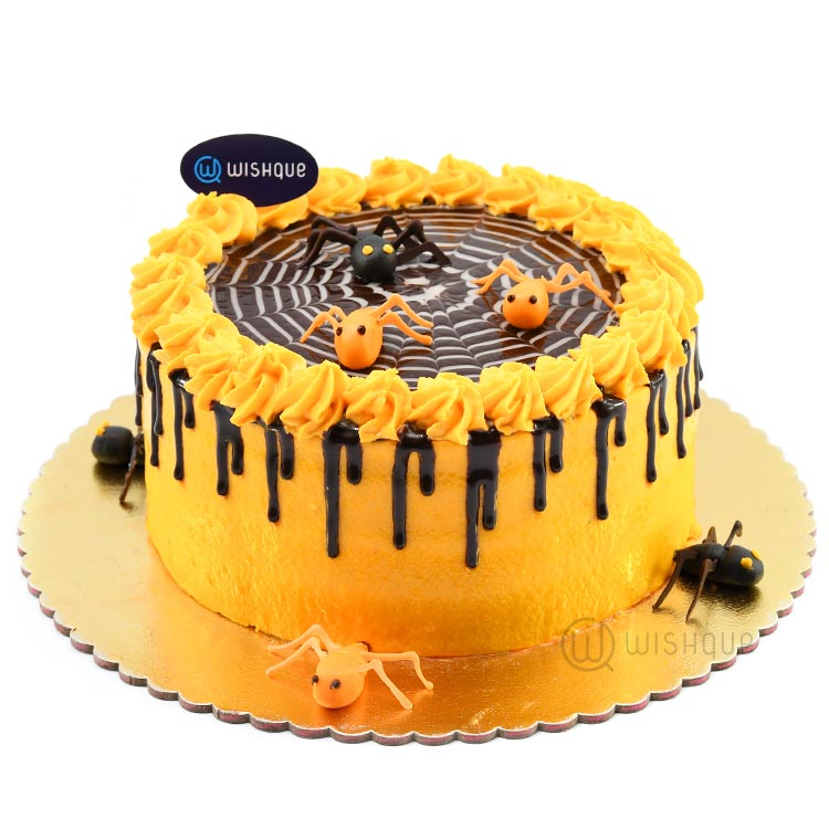 Spooky Spiders Halloween Chocolate Cake